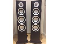 2 Floor-Standing MA Audio Speakers & stands, comes with warranty, unused