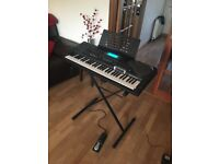 CASIO CTK-731 Electric Keyboard with Padded case, Stand, and Sustain pedal