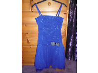 BHS Dark Blue Sequin Party / Prom Dress Age 10