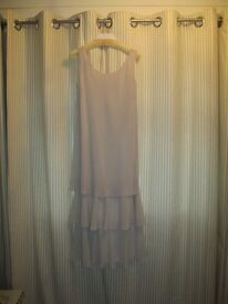 cream dress with Jacket (size 10)