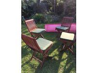 4 Park Lane Wooden garden chairs
