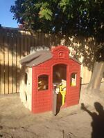 Little tikes school house & step 2 picnic table