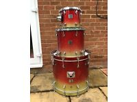 Beech Custom Absolute Apple Sparkle Drum kit and accessories