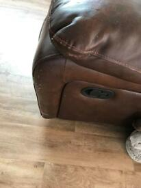 Leather reclining couches