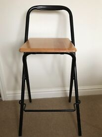 Folding high stool