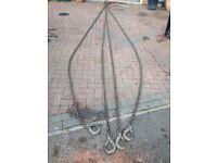 hi ab crane 4 leg chain sling with shortener. 25 tonne. 6 meters long.
