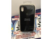 Apple iPhone black premium quality gel case available for iPhone 6S 8plus XR & XS MAX