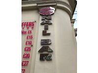 Silver steel signage £70