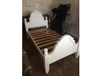 Stunning Carved Pine Single Bed Frame