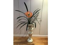 Italian Ceramic hand painted plant stand/ jardiniere