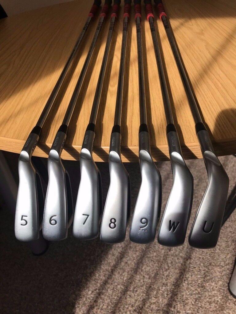 Ping G400 Irons 5-UW Blue Spot, AWT2.0 Reg, Golf Pride Multi-Compound Grips