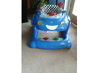 Mothercare boys sit-on bouncy and walker car