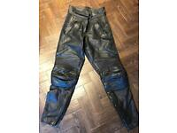 Belstaff leather ladies motorcycle trousers size 10/12