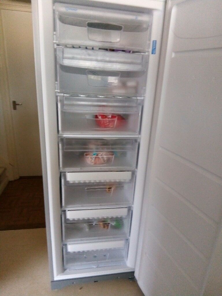 Indesit silver freezer for sale in good condition looking for £100 buyer must collect from landport