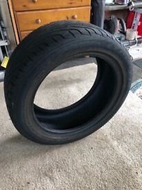 Partially Used Tyre.