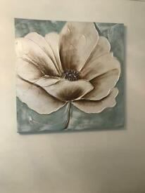 2x large flower canvases