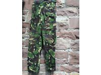 Three pairs of army combat trousers available Size 80/84/100