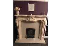 Fire surround, backplate and hearth