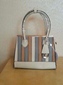 Striped ladies casual bag
