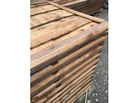 🐝Heavy Duty New Brown Wayneylap Fence Panels > Excellent Quality < Pressure Treated >