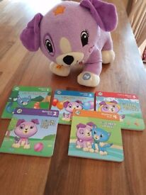 Leapfrog read with me Violet with 5 books