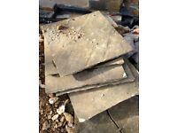 We have 30m2 of Indian sandstone paving