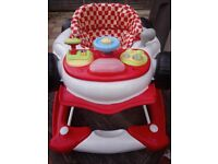 F1 2 in1 infant child Car Walker Racing Red First Steps Push Along Sound Activity