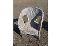 Wood wicker chair