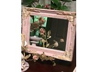 SHABBY CHIC DECORATIVE WALL MIRROR ANTIQUE STYLE