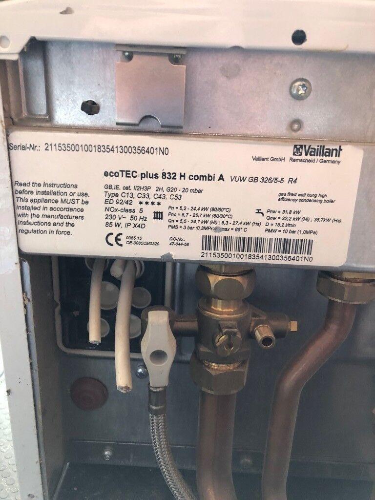 Vaillant Ecotec Plus 832 Combi Boiler And Adey Magnaclean