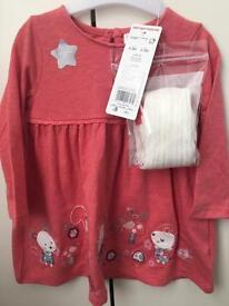 2 BNWT Tesco Baby Girls outfits