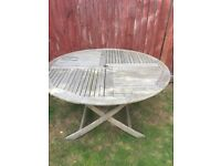 Large wooden garden table for sale