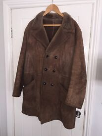 Men's genuine sheepskin coat