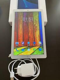 """60GB Android white 10.1"""" tablet Teeno brand Excellent condition"""