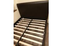 Double bed for sale faux leather