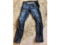 Ladies gstar jeans worn but loads of wear left side 27 leg30