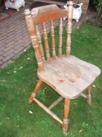 SHABBY CHIC PROJECT ~SOLID WOOD FARMHOUSE KITCHEN CHAIR