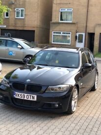 2009 BMW 335D INDVIDUAL LCI Touring. Twin Turbo, Ruby Black, Low Mileage, Sunroof, Towbar, Touring.