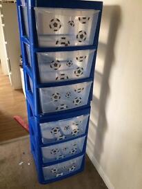 Football storage drawers