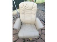 Carmel leather swivel chair for sale