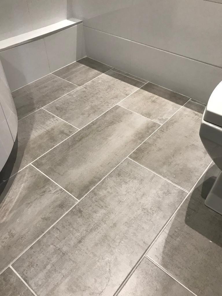 Grey porcelain bathroom floor tiles 30cm x 60cm 10 tiles in grey porcelain bathroom floor tiles 30cm x 60cm 10 tiles dailygadgetfo Image collections
