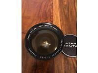 Asahi Pentax Super-Takamura f2 35mm lense canon fit
