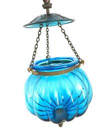 Blue Glass Lantern Light