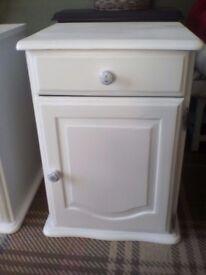 2solid wood bedside cabinets
