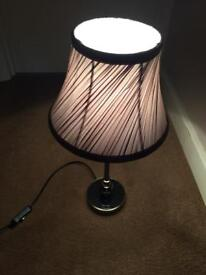 Small table lamp with shade
