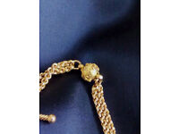Watch Chain 15c GOLD + Fob with Tassel - 17g & 28cm long