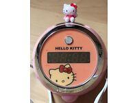 Hello kitty projector light clock radio