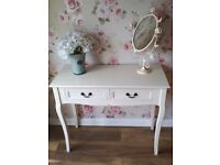 Beautiful shabby chic dressing table with two drawers