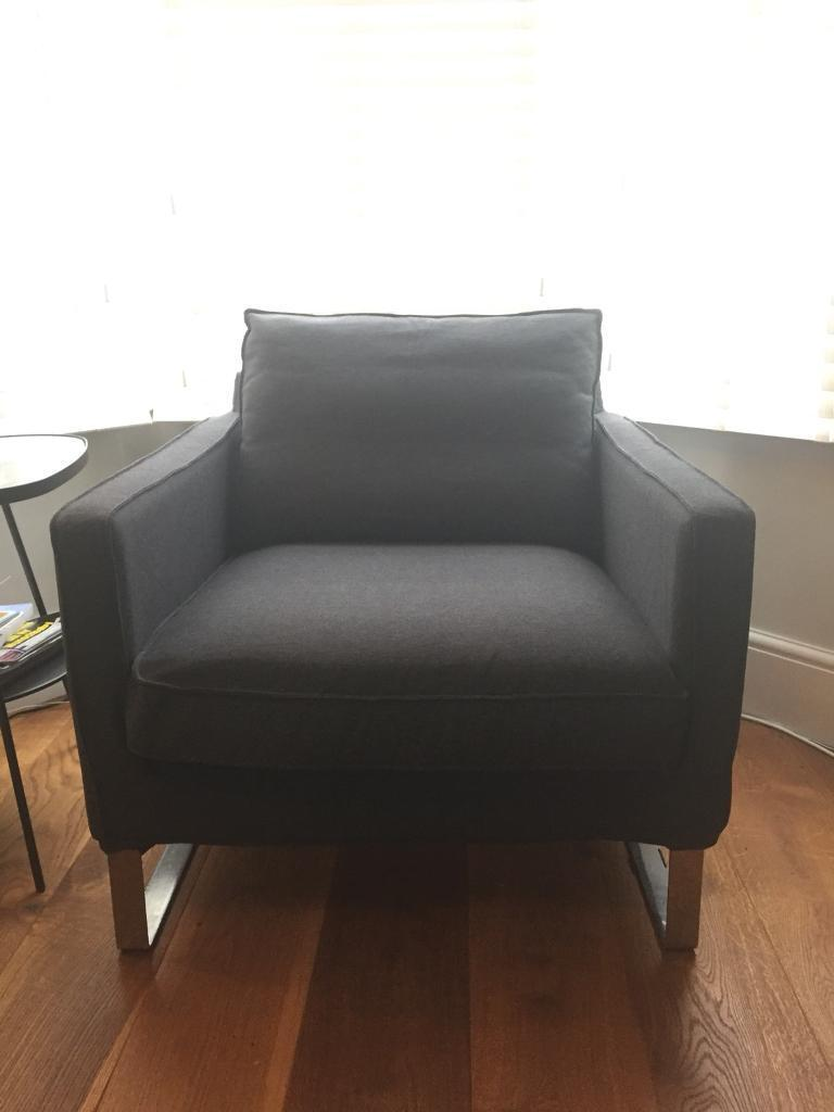 Pleasing Ikea Mellby Armchair Dark Grey With Brand New Cover In Ashton Bristol Gumtree Interior Design Ideas Ghosoteloinfo