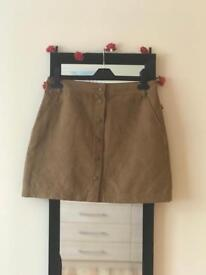 Tan Suedette New Look Skirt
